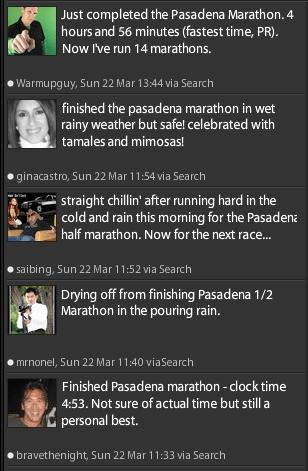 Pasadena Marathon Finishers