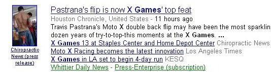 X games news coverage