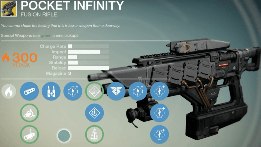 pocket infinity exotic destiny