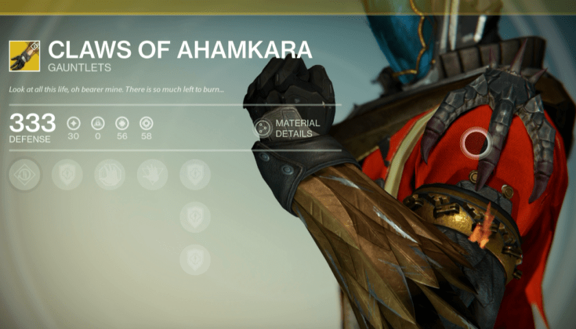 claws of ahamkara exotics