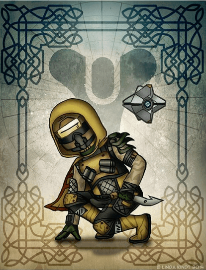 destiny fan art hunter