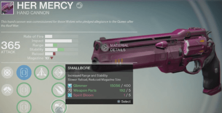 her mercy hand cannon
