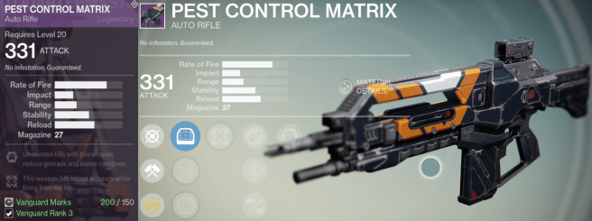 pest control matrix auto rifle