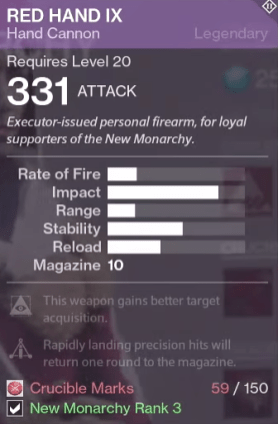 red hand IX new monarchy