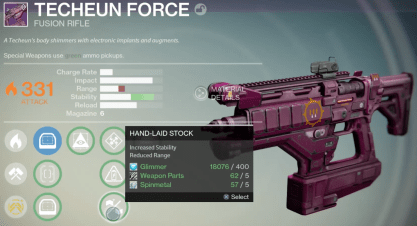 techeun force fusion rifle queen