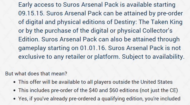 The Suros stuff is included with all versions of first party digital pre-orders