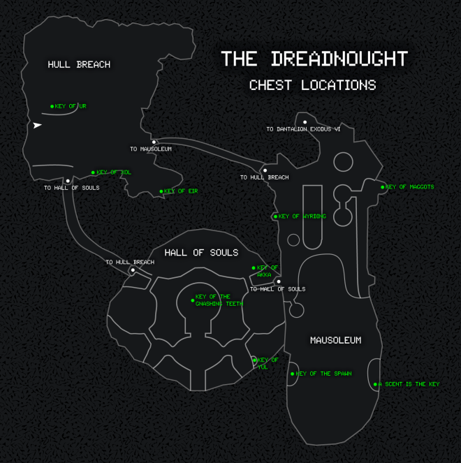 dreadnaught chests map
