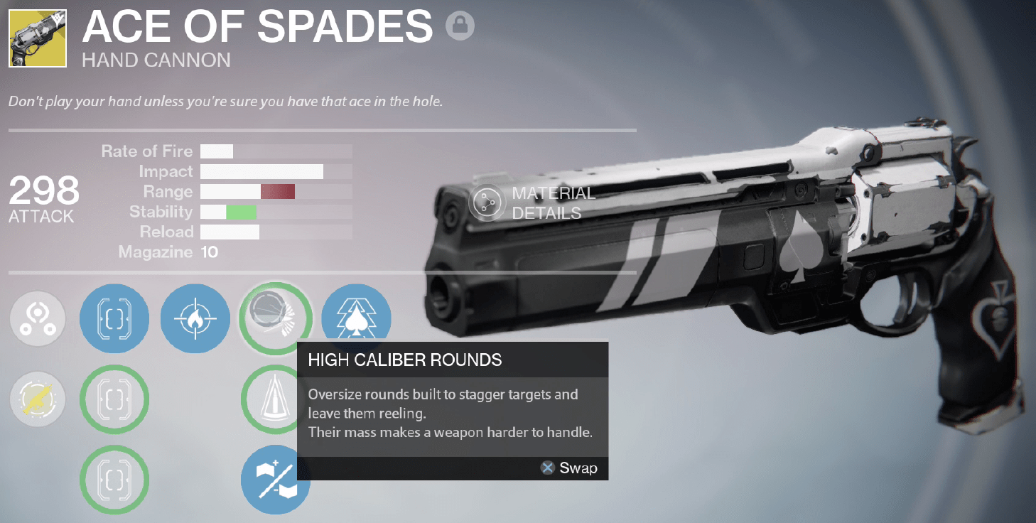 ace of spades review destiny manufactured