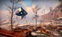Drone in a landscape… a scene from Destiny