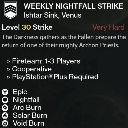 The Weekly Heroic has Void Burn