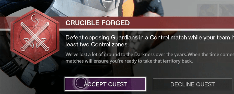 crucible quest