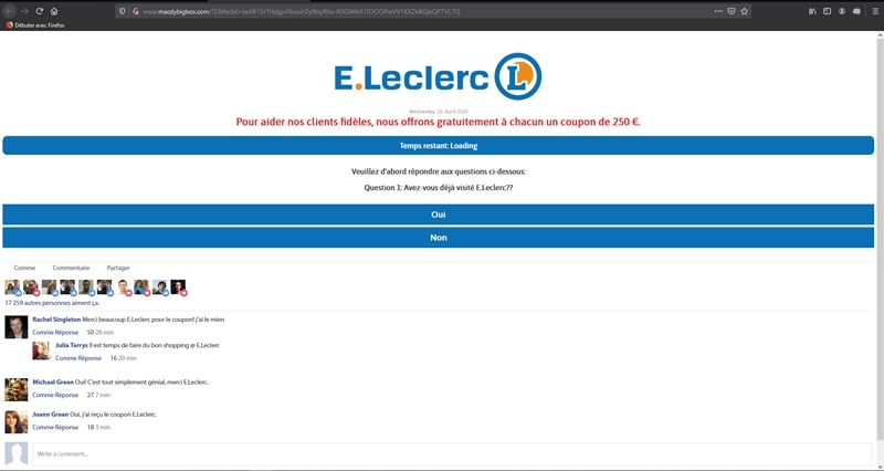 Coupon 250€ magasin E.Leclerc.