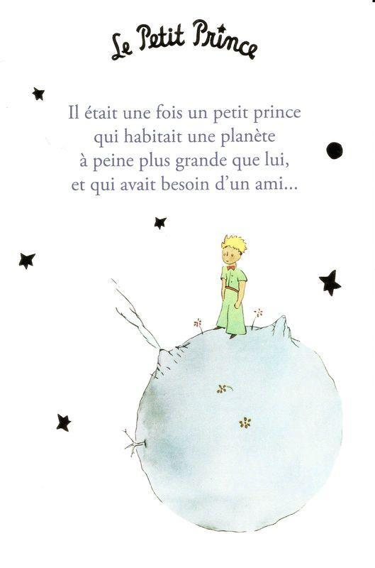 Citations Le Petit Prince : citations, petit, prince, Carte, Petit, Prince, Saint-Excupéry, était, 10x15, Planete-images.com