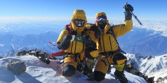 Au sommet du Nanga Parbat