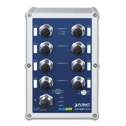 ISW-800T-M12 Industrial Switch Front