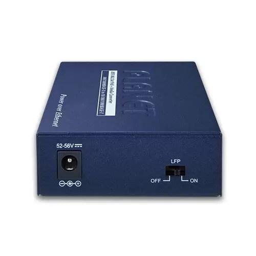 GTP-805A PoE Media Converter Back