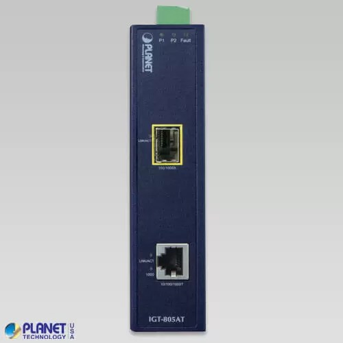 IGT-805AT Industrial Media Converter Front