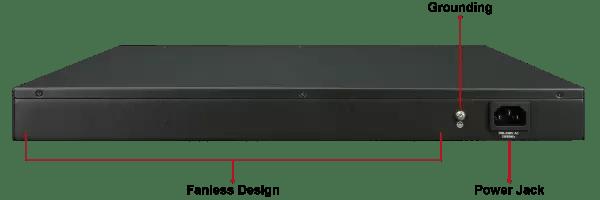 GS-4210-48T4S Back Ports