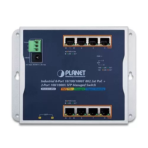WGS-4215-8P2S PoE Switch front