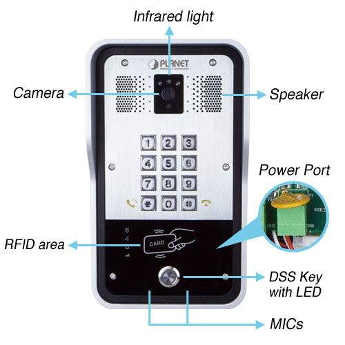 HDP-5260PT Door Phone back