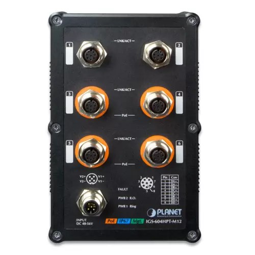 IGS-604HPT-M12 M12 Switch front