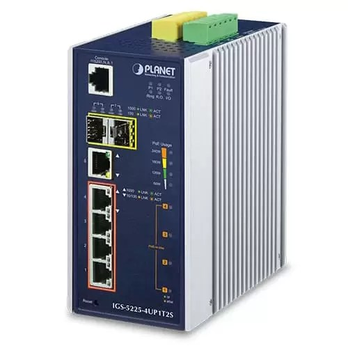 IGS-5225-4UP1T2S Industrial PoE Switch