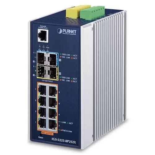IGS-5225-8P2S2X Industrial PoE Switch