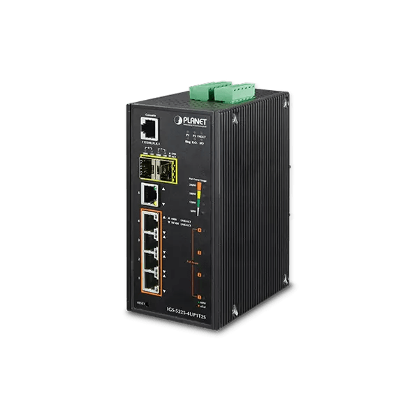 IGS-5225-4UP1T2S Industrial L2+ 4-Port 10/100/1000T Ultra PoE + 1-Port 10/100/1000T + 2-Port 100/1000X SFP Managed Switch