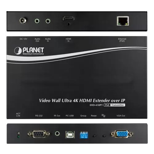 IHD-410PT HDMI Extender all sides