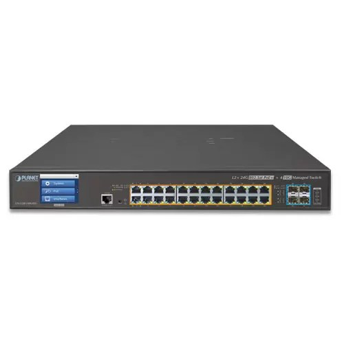 GS-5220-24PL4XV PoE Switch front
