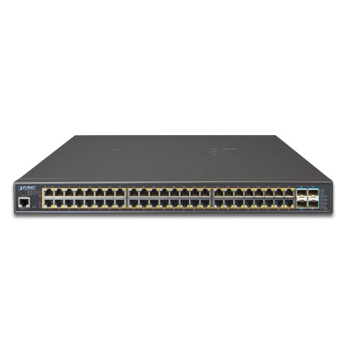 GS-5220-48PL4X PoE Switch Front