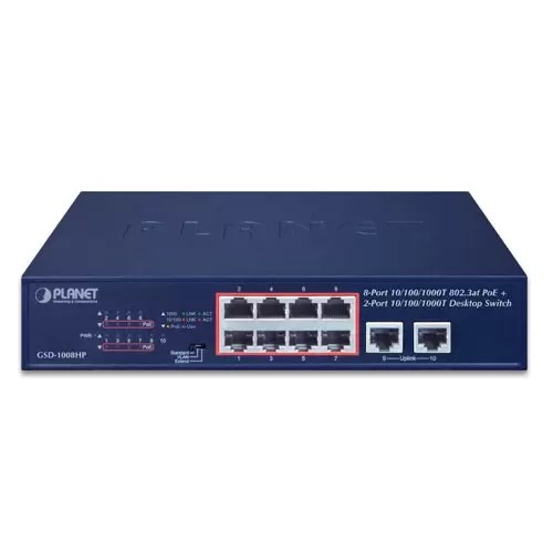GSD-1008HP PoE Switch front