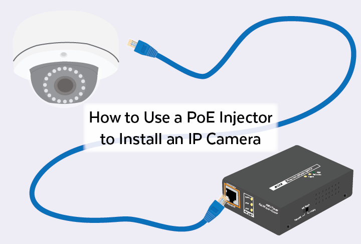 How To Use A Poe Injector To Install An Ip Camera In 3