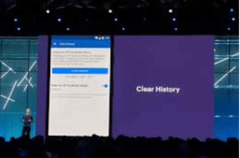"Announces ""Clear History"" App at F8 Conference"