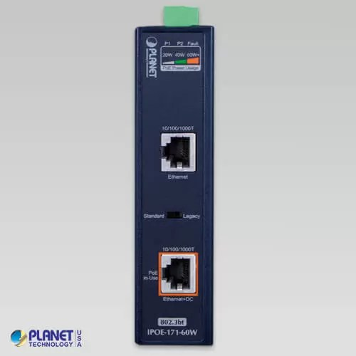 IPOE-171-60W Industrial PoE Injecto Front