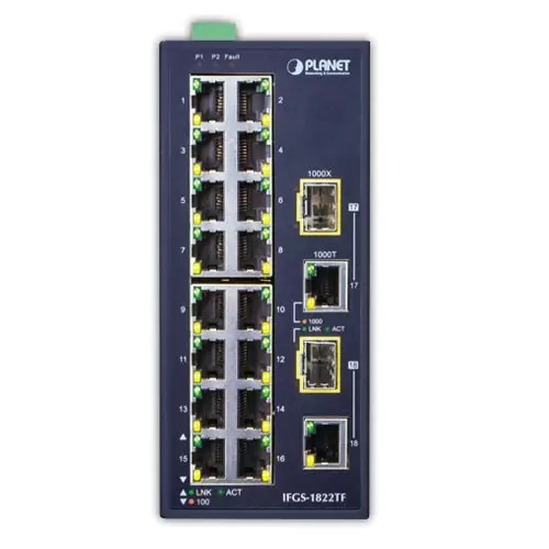 IFGS-1822TF Industrial Switch Front