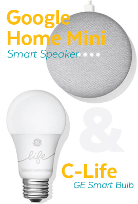 Google Home Mini & GE C-Life Smart Bulb