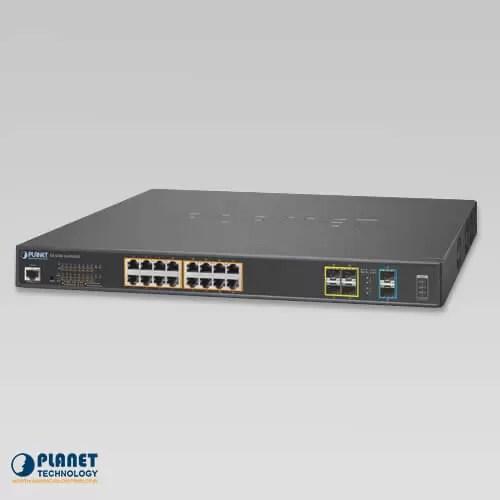 GS-5220-16UP4S2X L2+ 16-Port 10/100/1000T Ultra PoE + 4-Port 100/1000X SFP + 2-Port 10G SFP+ Managed Switch