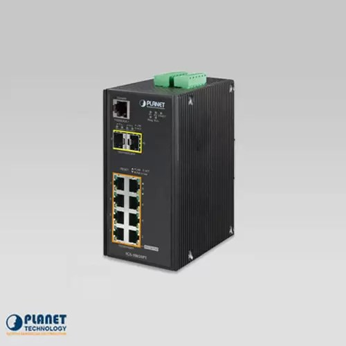 IGS-10020PT IP30 Industrial SNMP Switch 8-Port 10/100/1000Base-TX 802.3at PoE + 2-Port 100/1000FX (SFP) (-40 ~75C)