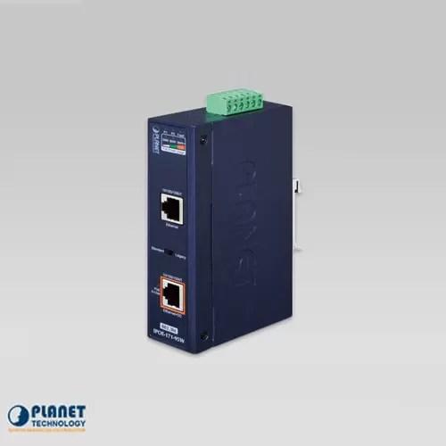 IPOE-171-95W Industrial Single-Port 10/100/1000Mbps 802.3bt PoE++ Injector (95W, -40~75C, 12~48V DC)