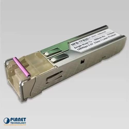 MFB-TSB SFP-Port 100BASE-BX Transceiver (Multi-mode/WDM,TX:1550nm RX:1310nm / DDM) - 2KM (-40~75°C)