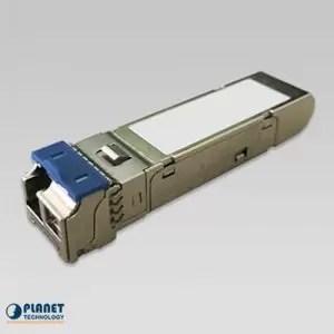 MGB-2GLA20 2.5G SFP Transceiver (Single mode WDM, TX:1310nm RX:1550nm, DDM, 0~70°C) – 20km