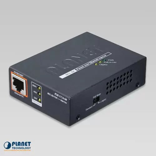 POE-171A-60 Single-Port 10/100/1000Mbps 802.3bt PoE++ Injector (60 Watts)