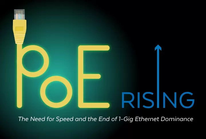 PoE Rising: The Need for Speed and the End of 1-Gig Ethernet Dominance