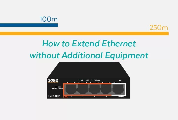 How to Extend Ethernet without Additional Equipment