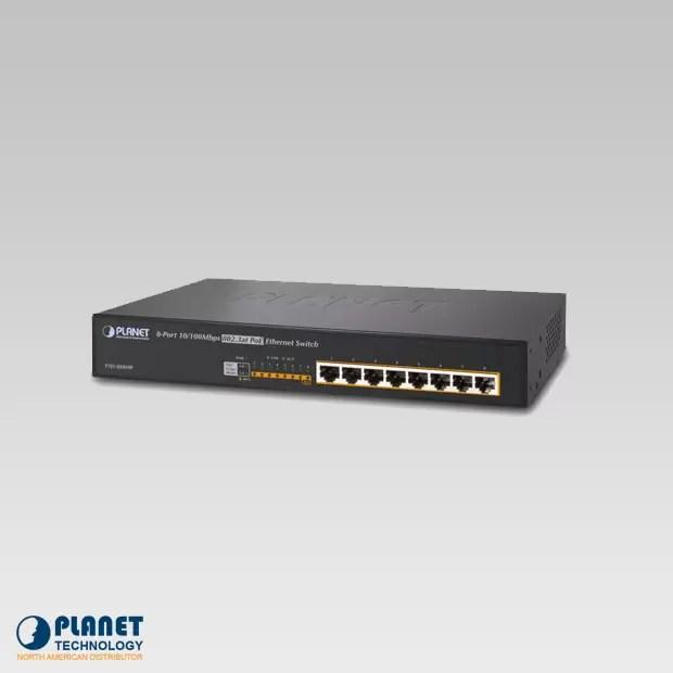FSD-808HP 8-Port 10/100Mbps 802.3at PoE Desktop Switch (140W)