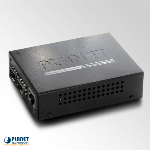 FT-1205A 1-Port 10/100TX - 2-Port 100Base-FX Switch/Redundant Media Converter (SFP)