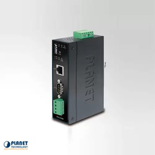 ICS-2100 IP30 Industrial Media Converter RS-232/RS-422/RS-485 to 10/100TX (-10 ~ 60C)