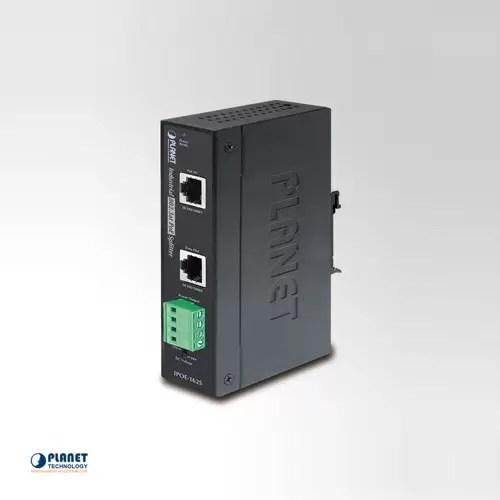 IPOE-162S IP30 Industrial 802.3at Gigabit High Power Power over Ethernet Splitter - 12V & 24V (-40 ~ 75 C)