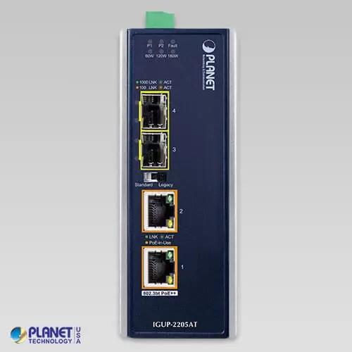 IGUP-2205AT Industrial Media Converter Front